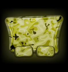 camo sign for game ui vector image