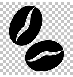Coffee beans sign Flat style black icon on vector image