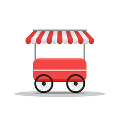 creative street cart or shop fast food truck vector image