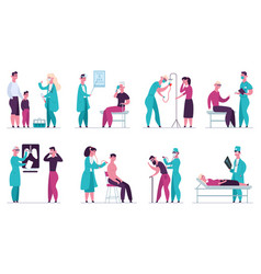 doctor medical appointment medical check up vector image