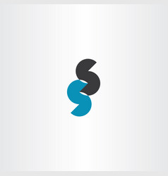 Double s letter logo sign icon element vector