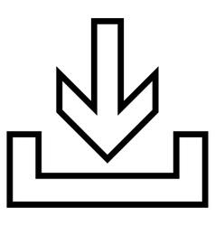 Downloads Contour Icon vector