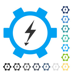 Electric energy gear wheel icon vector