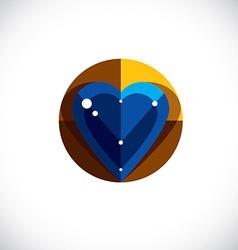 Elegant love heart isolated valentine da vector