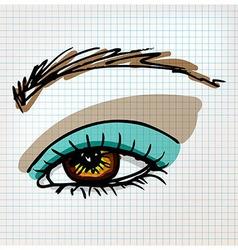 Female eye sketch vector image