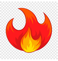 fire icon cartoon style vector image