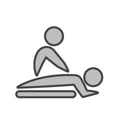 Flat color massage icon vector