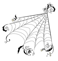 Floral spider web vector
