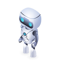 future isometric cute robot innovation technology vector image