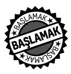 Get started stamp in turkish vector