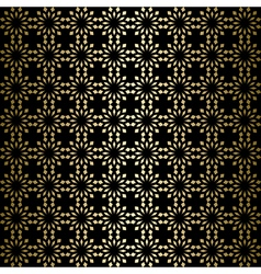 Gold ornament on black background - with gradient vector
