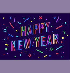 Happy new year greeting card new year vector
