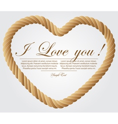 Heart shaped rope on white background vector