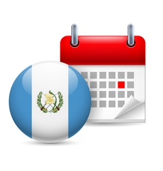 Icon of National Day in Guatemala vector image