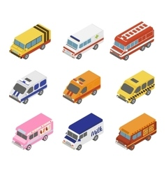 Isometric Public City Transport vector image
