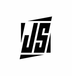 Js logo monogram with modern style concept design vector