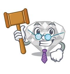 Judge white diamond in character box vector