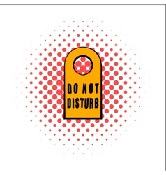 Label do not disturb comics icon vector image