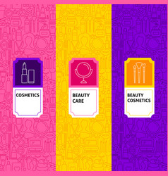 line cosmetics package labels vector image