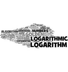 Logarithm word cloud concept vector