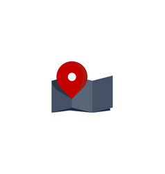 map route logo icon design vector image