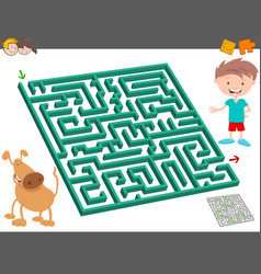 Maze leisure activity game for kids vector