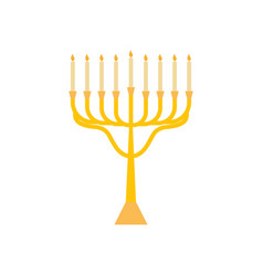 Menorah for hanukkah flat religion candles icon vector