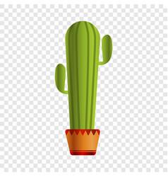 mexican cactus pot icon cartoon style vector image