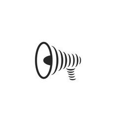 Modern megaphone logo great design for any vector