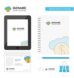 online banking business logo tab app diary pvc vector image