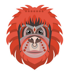 orangutan head logo monkey decorative vector image