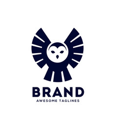 Owl fly logo vector