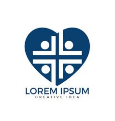 people church logo design template vector image