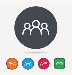 People icon group of humans sign vector