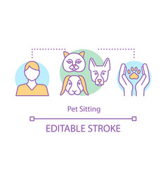 pet sitting concept icon animal shelter hotel vector image