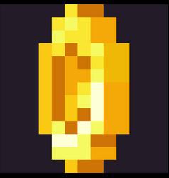 Pixelated coin vector