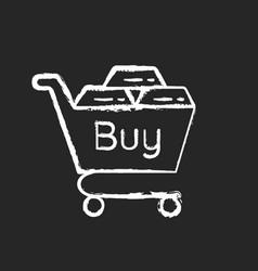 Precious metals purchase chalk white icon vector