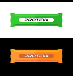 Protein bar healthy snack green and vector