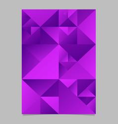 Purple geometrical abstract polygonal triangle vector