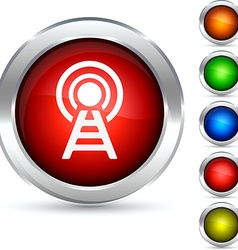 Radio button vector image