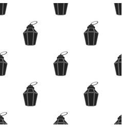 ramadan lamp icon in black style isolated on white vector image