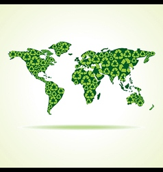 recycle icons make world map stock vector image