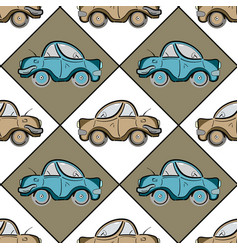 Retro seamless pattern with cyan and beige vector