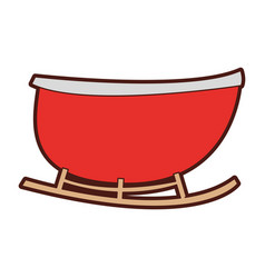 Santa carriage isolated icon vector