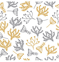 seamless floral pattern cute background vector image