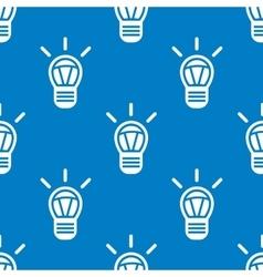 Seamless light bulb pattern vector