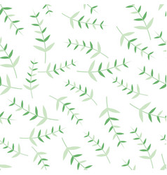 seamless patterns with leaves modern ornaments vector image