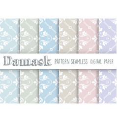 seamless repeating pattern vector image