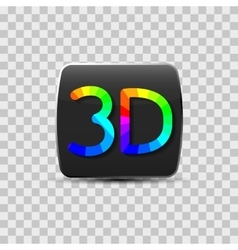 Sign of a three-dimensional video vector image