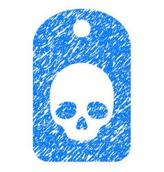 skull label grunge icon vector image